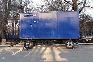Фотография контейнера с ДГУ на шасси (ADP-80)