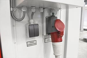 Фото управления освещением металлического контейнера