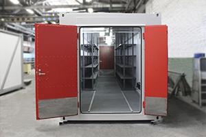 Блок контейнер для хранения легковоспламеняющихся жидкостей в открытом виде