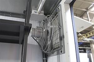 Фотография взрывозащищенного вентилятора в контейнере
