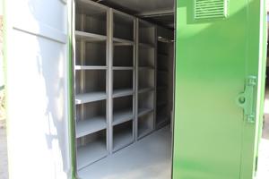 Фотография контейнера для хранения оружия (КХО) в открытом виде