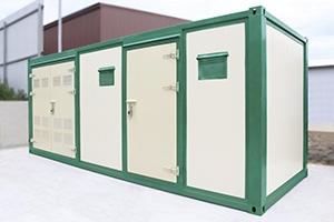 Фото контейнера для трансформатора из сэндвич панелей