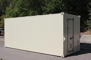 Фото металлического контейнера в бежевом цвете