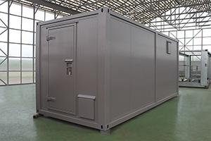 Общий вид металлического контейнера из модулей