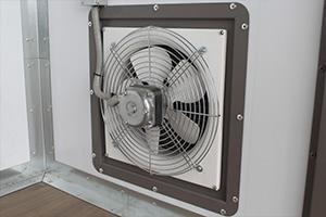 Фото вентиляции в металлическом контейнере из модулей