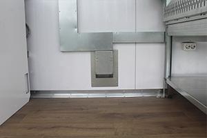 Фотография проведения электрики в кожухе металлическом