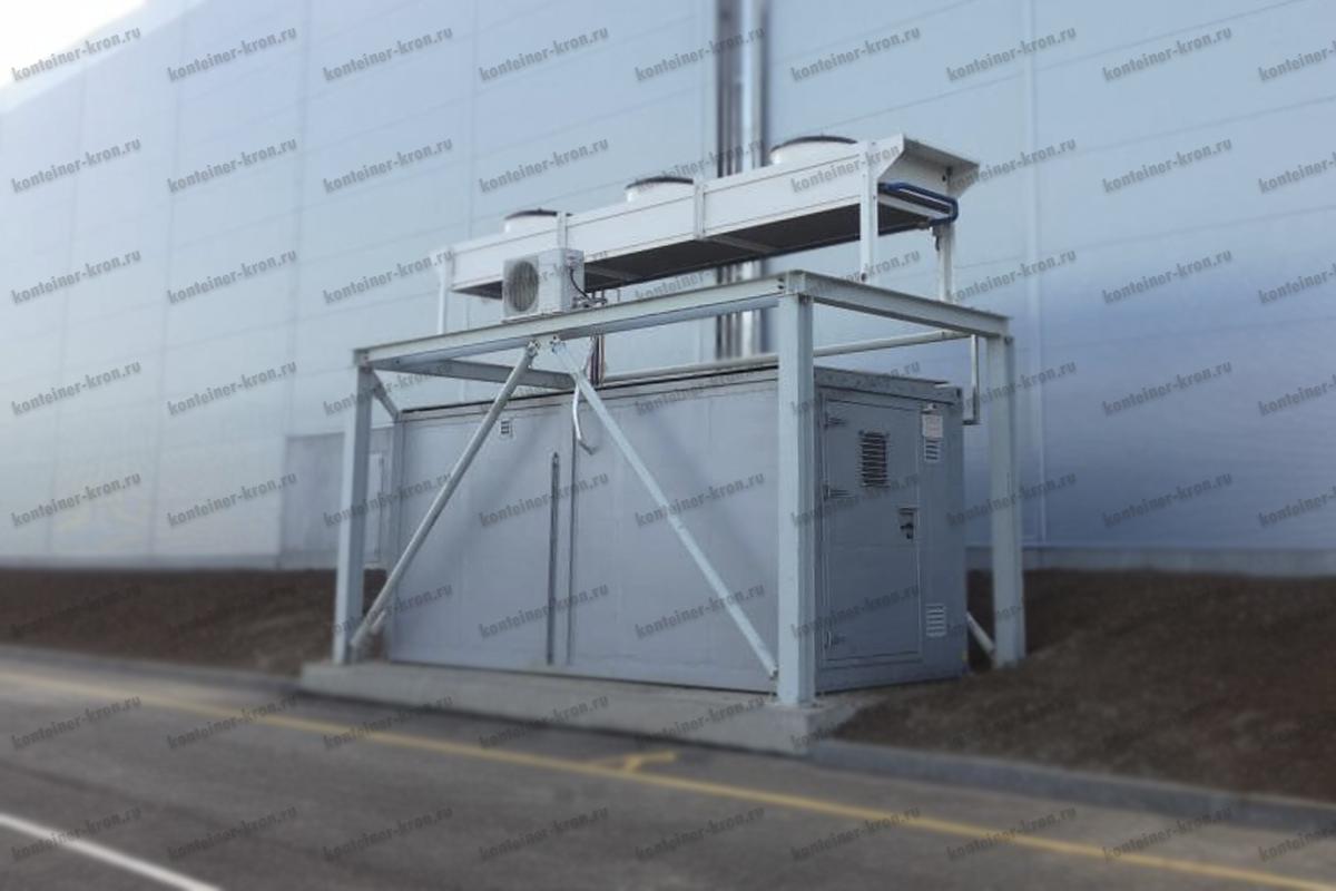 Фото кузов-контейнера производства компании Kron Investment Group с охлаждающей установкой