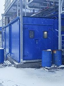 Блок-контейнер для гипермаркета METRO