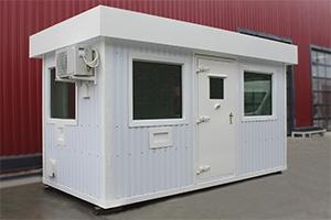 Общий вид контейнера контрольно-пропускного пункта (КПП)