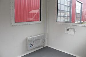 Отопление установленное в контейнере КПП