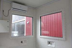 Сплит-система установленая внутри контейнера