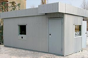 Фотография бронированного контейненера КПП