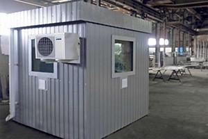 Фото модульного КПП на производстве