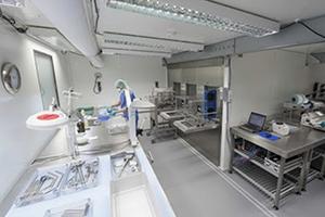 Фото оборудования для стерилизации в контейнере