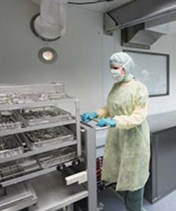 Фото стерилизационного контейнера внутри