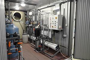 Фото водогазового оборудования в блок-контейнере