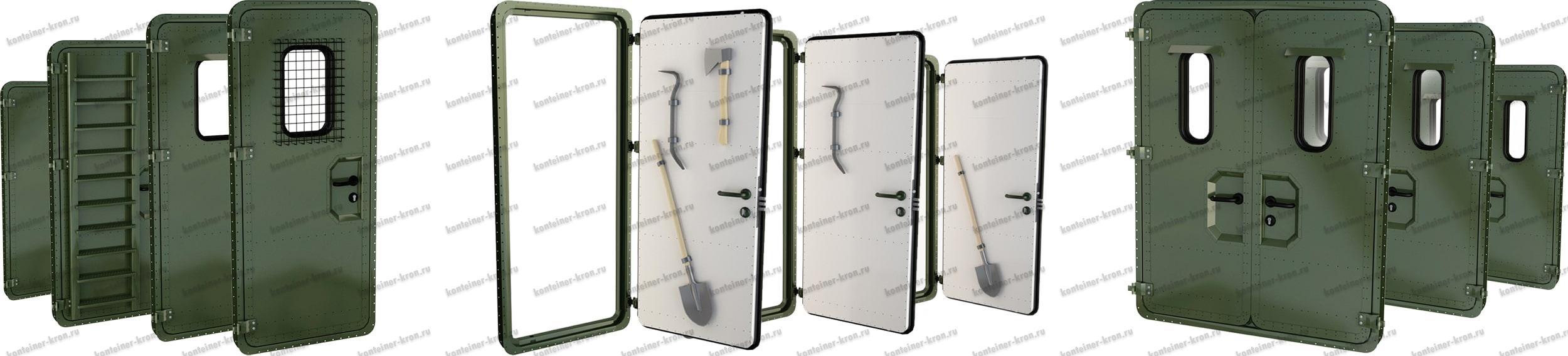 Типоразмеры дверей для фургонов и контейнеров