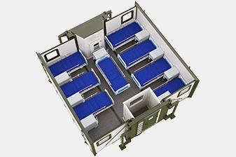 Варианты планировок медицинского госпиталя в контейнере