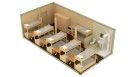 Жилой блок-контейнер с санузлом и душем - 12 человек