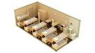 Жилой блок-контейнер с санузлом - 10 человек