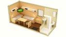 Жилой блок-контейнер с санузлом, душем и перегородкой - 2 человека