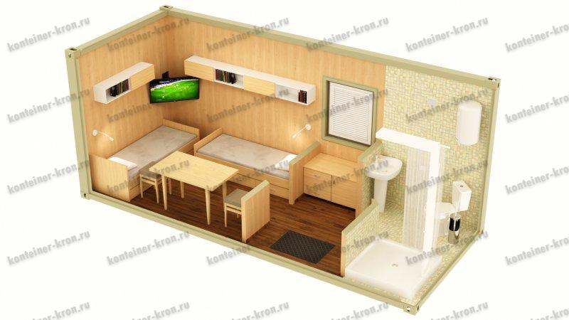 Картинка жилого блок-контейнера 3