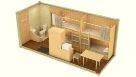 Жилой блок-контейнер с туалетом - 4 человека