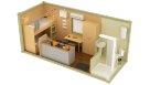 Жилой модульный контейнер с санузлом, душем и кухней - 2 человека
