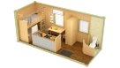 Жилой блок-контейнер с санузлом, душем, кухней и перегородкой - 2 человека