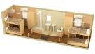 Жилой металлический контейнер с санузлом и душем раздельные комнаты - 2 человека