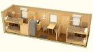 Жилой блок-контейнер эконом раздельные комнаты - 4 человека