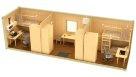 Жилой металлический контейнер эконом раздельные комнаты - 4 человека