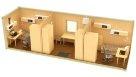Жилой блок-контейнер эконом класса комнаты раздельно - 2 человека