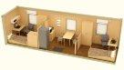 Жилой металлический контейнер эконом с раздельными комнатами - 2 человека