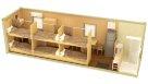 Жилой блок-контейнер с туалетом, душем и кухонным гарнитуром - 6 человек