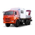 Передвижная техническая помощь с КМУ на шасси КАМАЗ 43118 К (каркасный фургон)