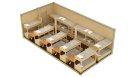Жилой модульный контейнер эконом - 20 человек
