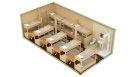 Жилой блок-контейнер с санузлом и душем - 16 человек