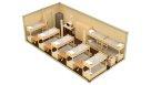 Жилой контейнер из сэндвич панелей эконом - 14 человек