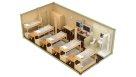 Жилой модульный контейнер с санузлом, душем и кухней - 10 человек