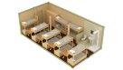 Жилой металлический контейнер с санузлом и душем - 14 человек
