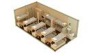 Металлический жилой контейнер с туалетом - 14 человек
