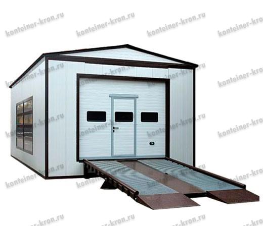 Мобильный гараж из контейнера